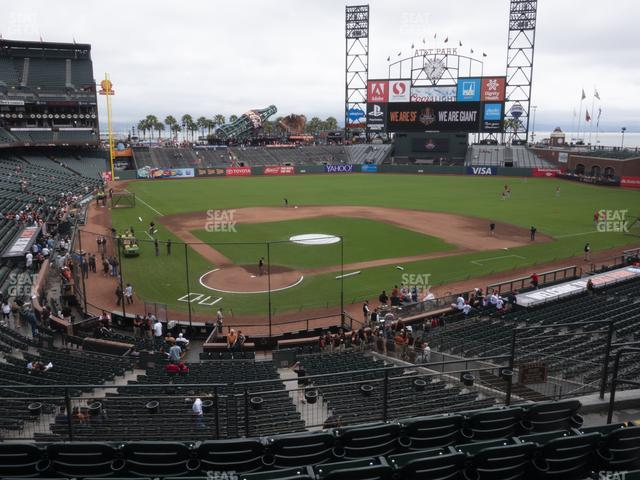 Oracle Park Section 213 view