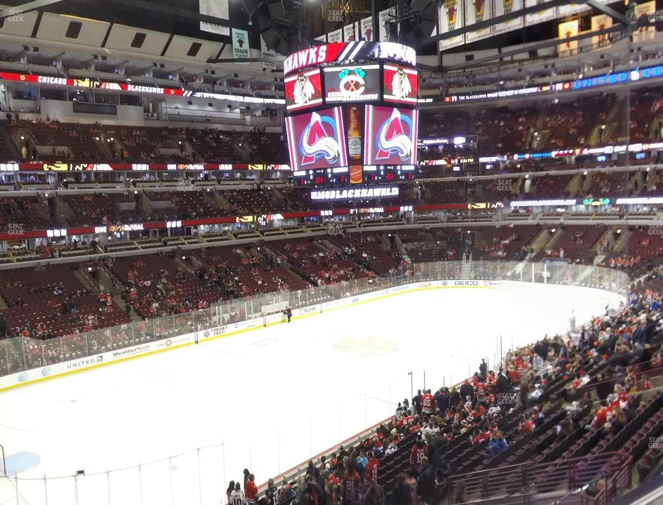 Chicago Blackhawks at United Center Section 204 View