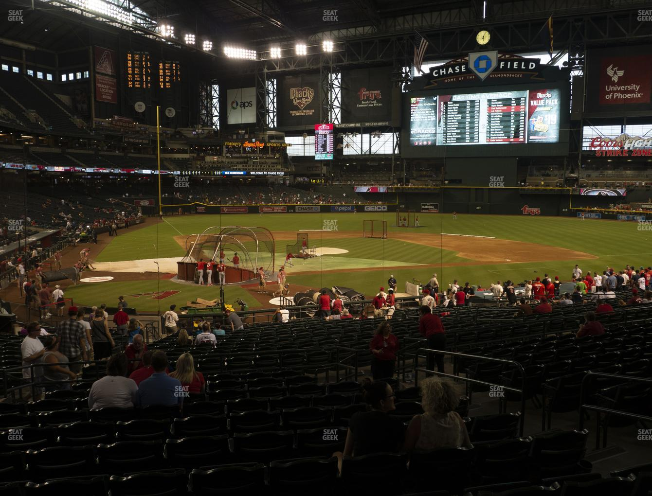 MLB at Chase Field Section 120 View