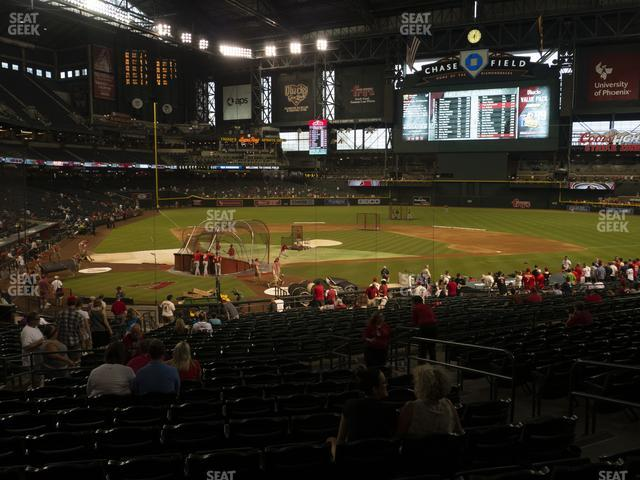 Chase Field Section 120 view
