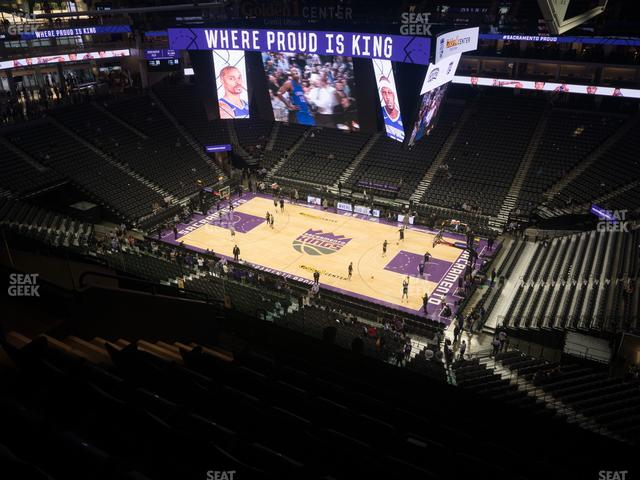Golden 1 Center Section 216 view