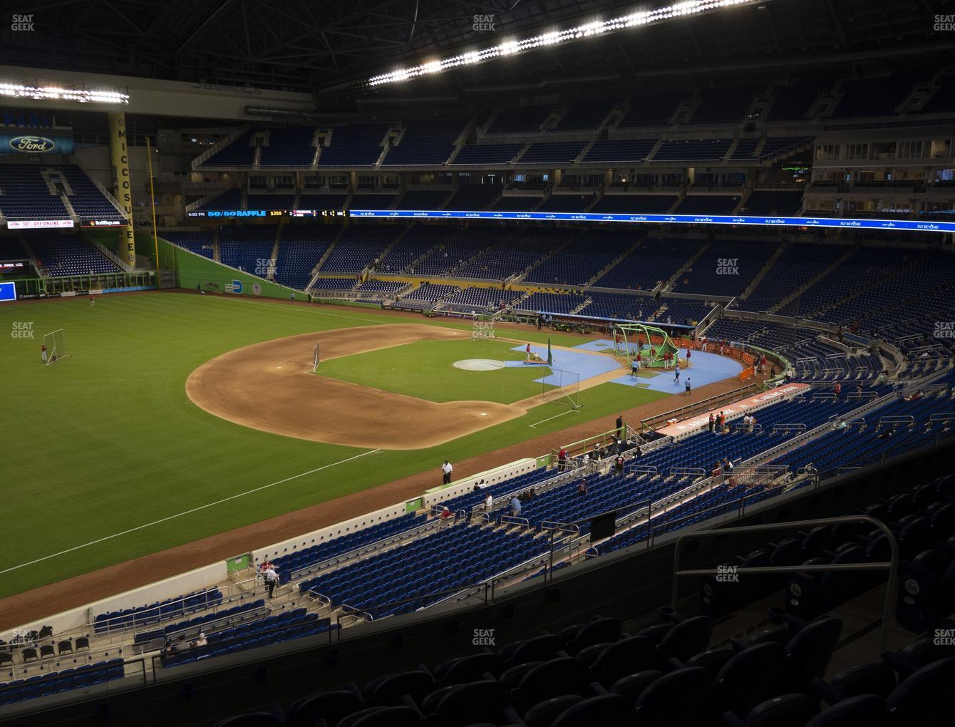 Miami Marlins at Marlins Park Section 225 View