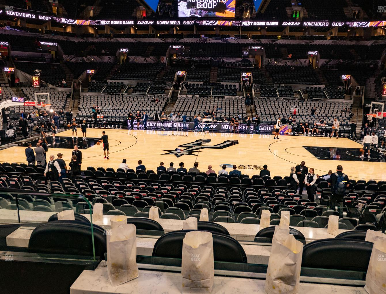 San Antonio Spurs at AT&T Center Box 4 View