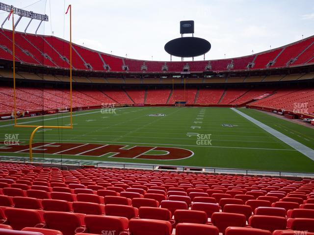Arrowhead Stadium Section 127 view