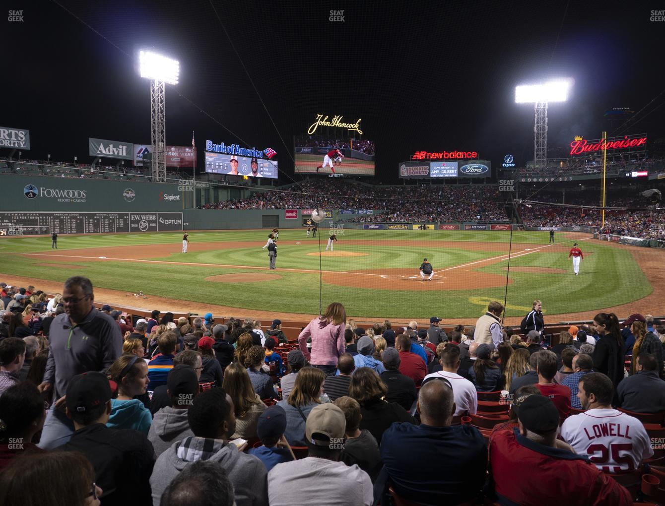 Boston Red Sox at Fenway Park Loge Box 133 View
