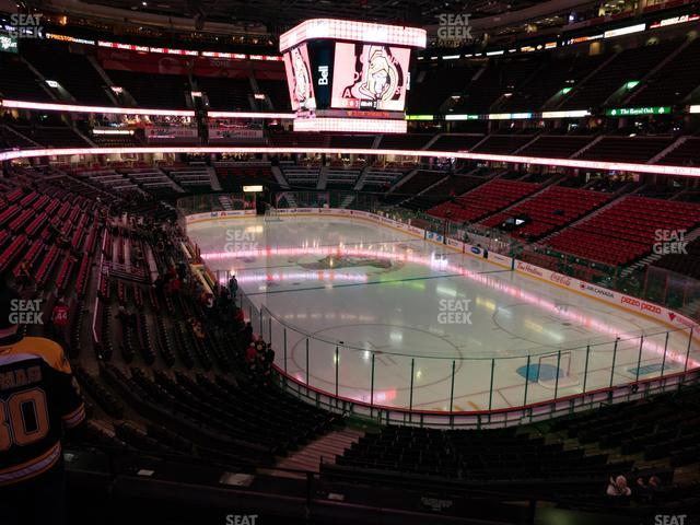 Canadian Tire Centre Section 203 view