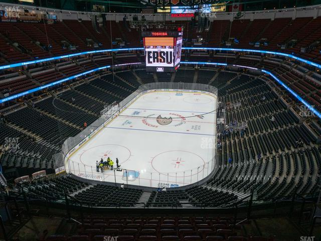 Honda Center Section 421 view