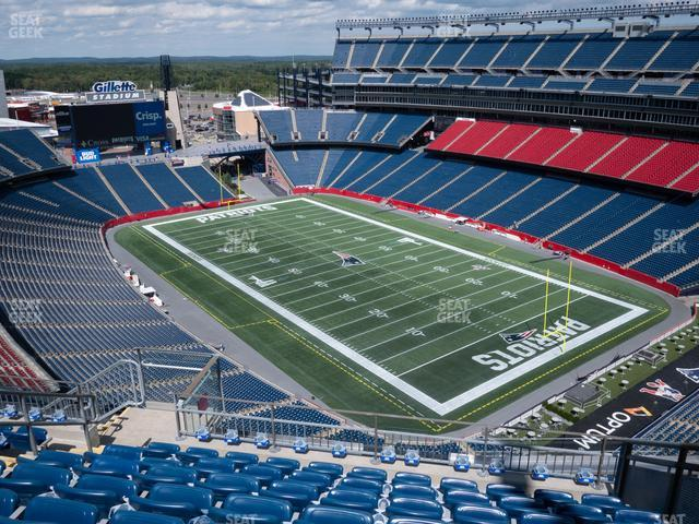 Gillette Stadium Section 323 view