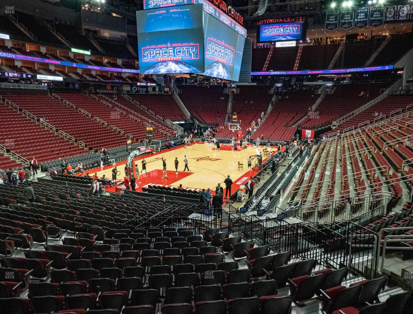 Houston Rockets at Toyota Center Section 125 View