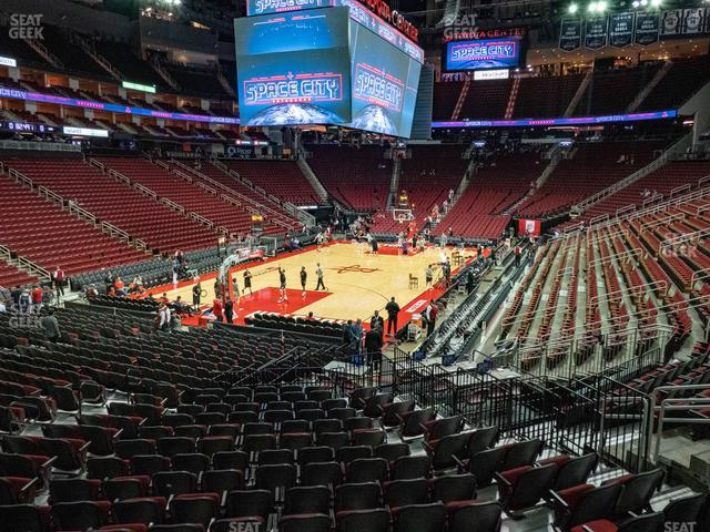 Toyota Center Section 125 view