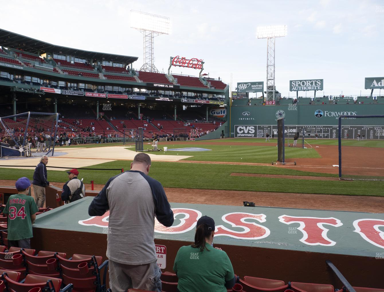Boston Red Sox at Fenway Park Field Box 27 View