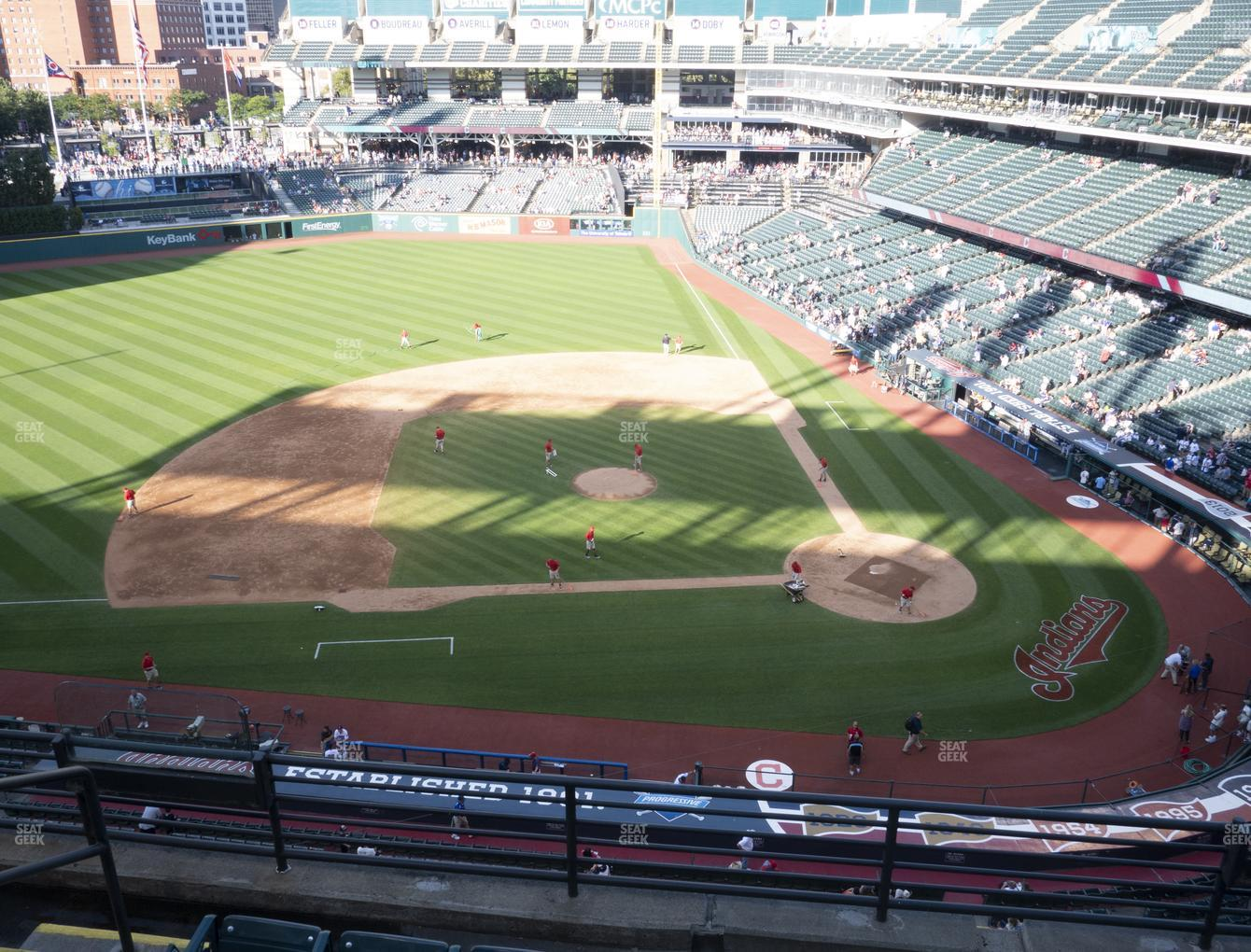 Cleveland Indians at Progressive Field Section 460 View