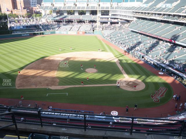 Progressive Field Section 460 view