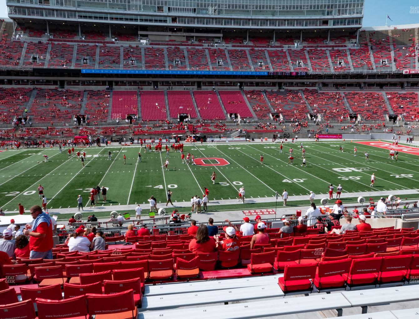 Ohio State Buckeyes Football at Ohio Stadium Section 22 A View