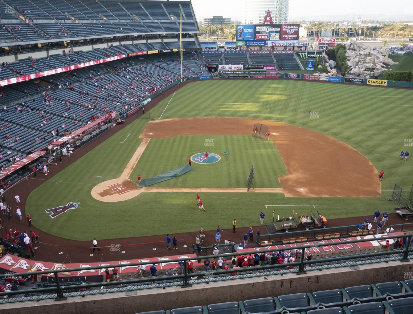 Los Angeles Angels at Angel Stadium of Anaheim Section 424 View