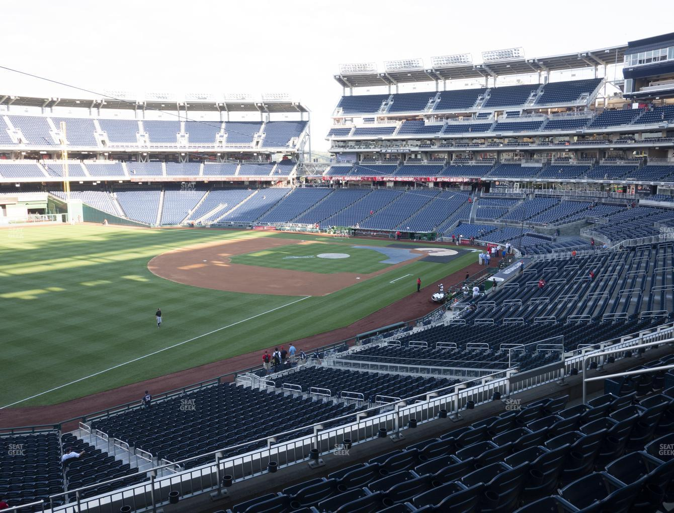 Washington Nationals at Nationals Park Section 203 View