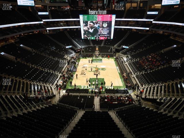 Fiserv Forum Section 215 view