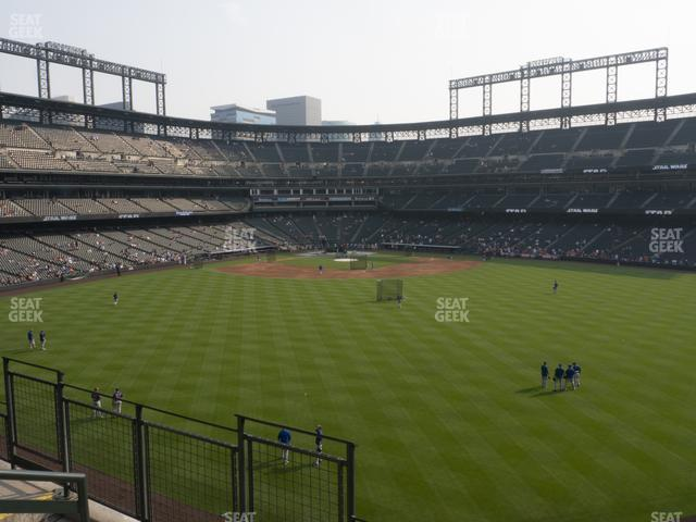Coors Field Section 201 view