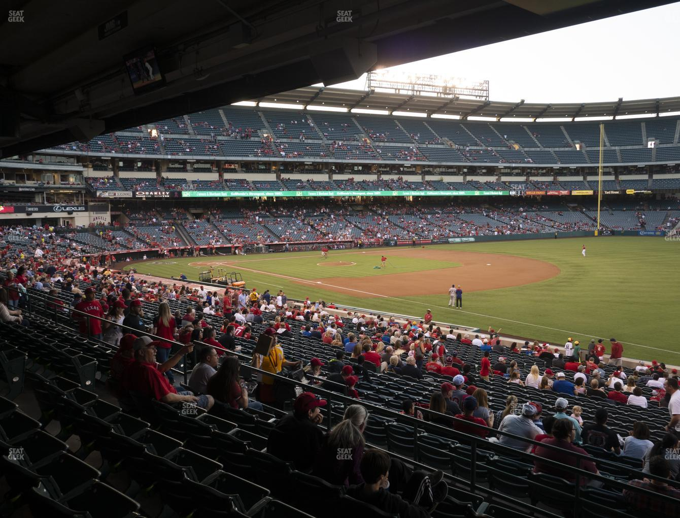 Los Angeles Angels at Angel Stadium of Anaheim Section 227 View