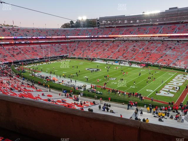 Sanford Stadium Section 202 view