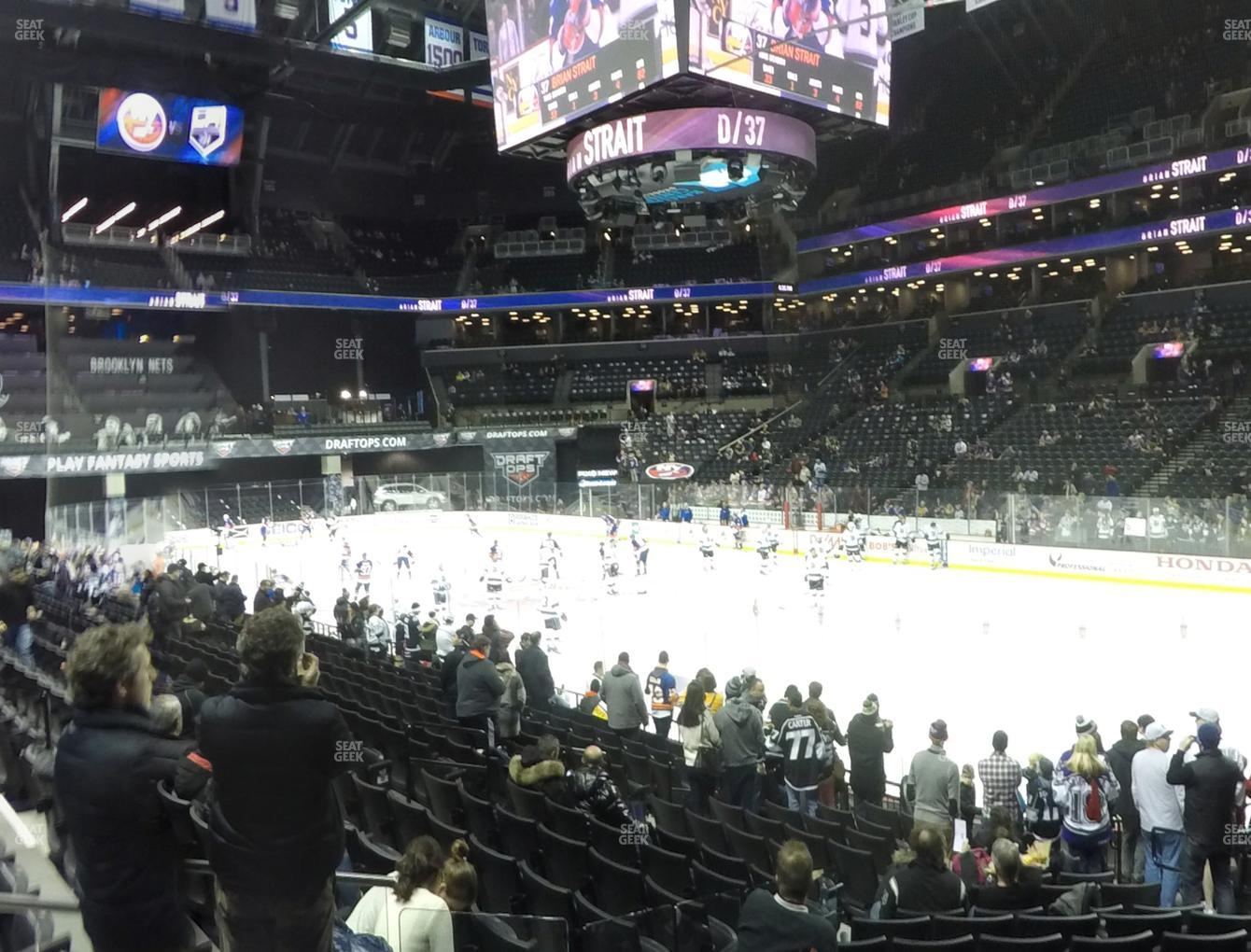 New York Islanders at Barclays Center Section 20 View