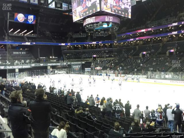 Barclays Center Section 20 view