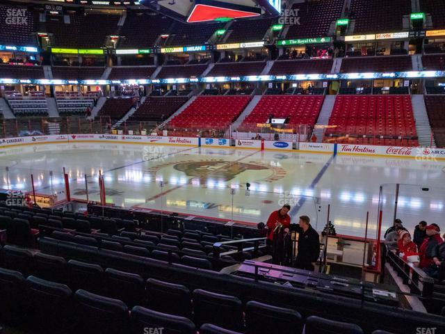 Canadian Tire Centre Section 105 view