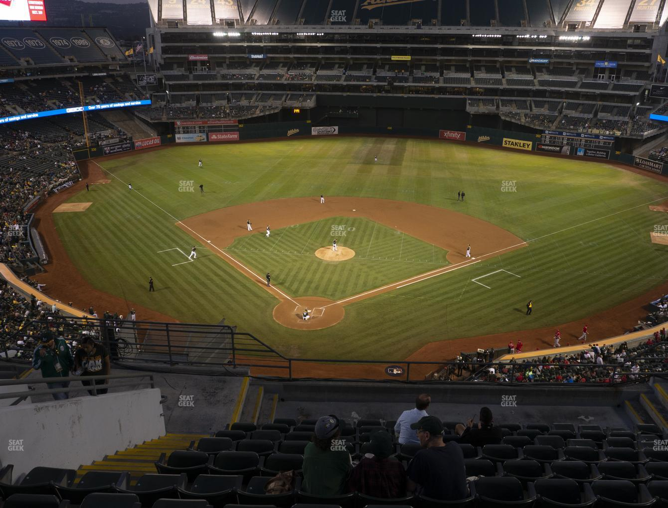 Oakland Athletics at RingCentral Coliseum Section 316 View