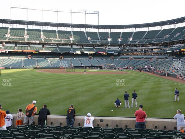 Oriole Park at Camden Yards Section 80 view