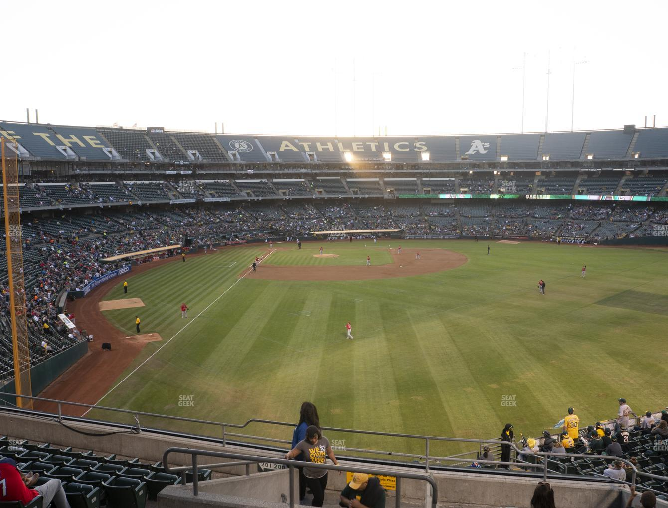 Oakland Athletics at Oakland-Alameda County Coliseum Section 201 View