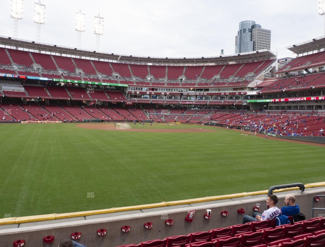 Cincinnati Reds at Great American Ball Park Section 102 View