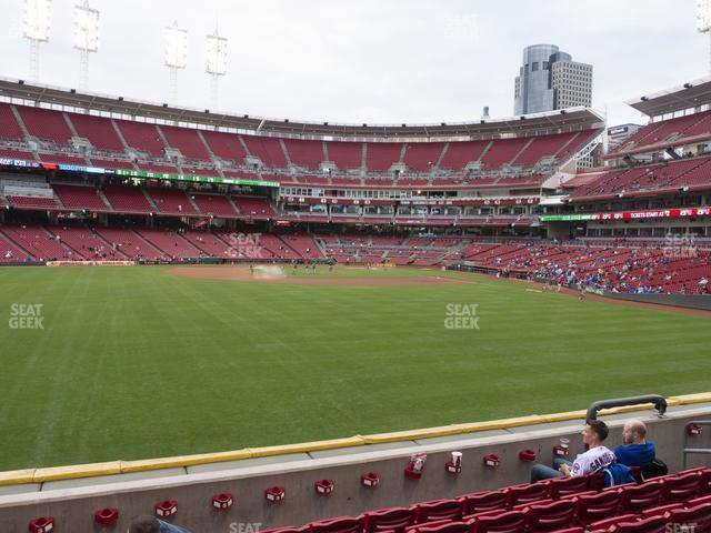 Great American Ball Park Section 102 view