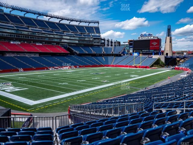 Gillette Stadium Section 116 view