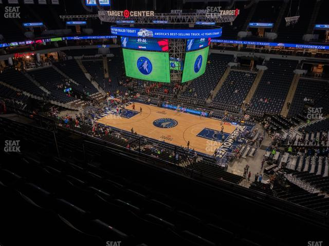 Target Center Section 208 view
