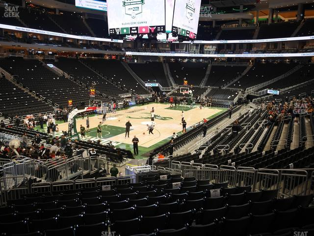 Fiserv Forum Section 109 view