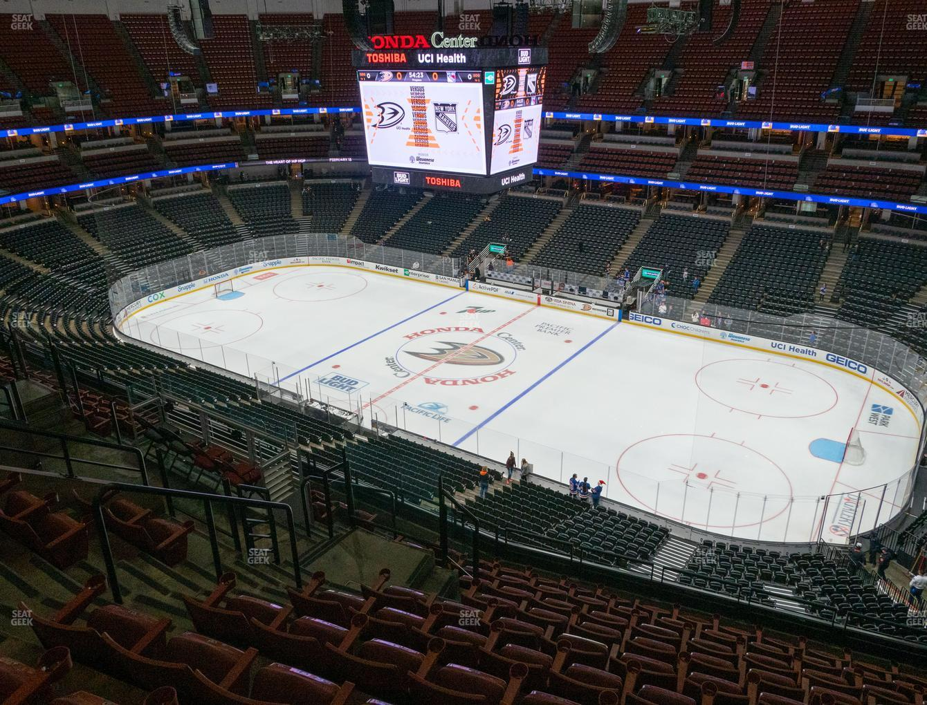 Anaheim Ducks at Honda Center Section 430 View