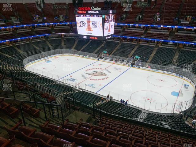 Honda Center Section 430 view