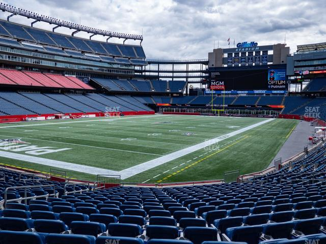 Gillette Stadium Section 139 view