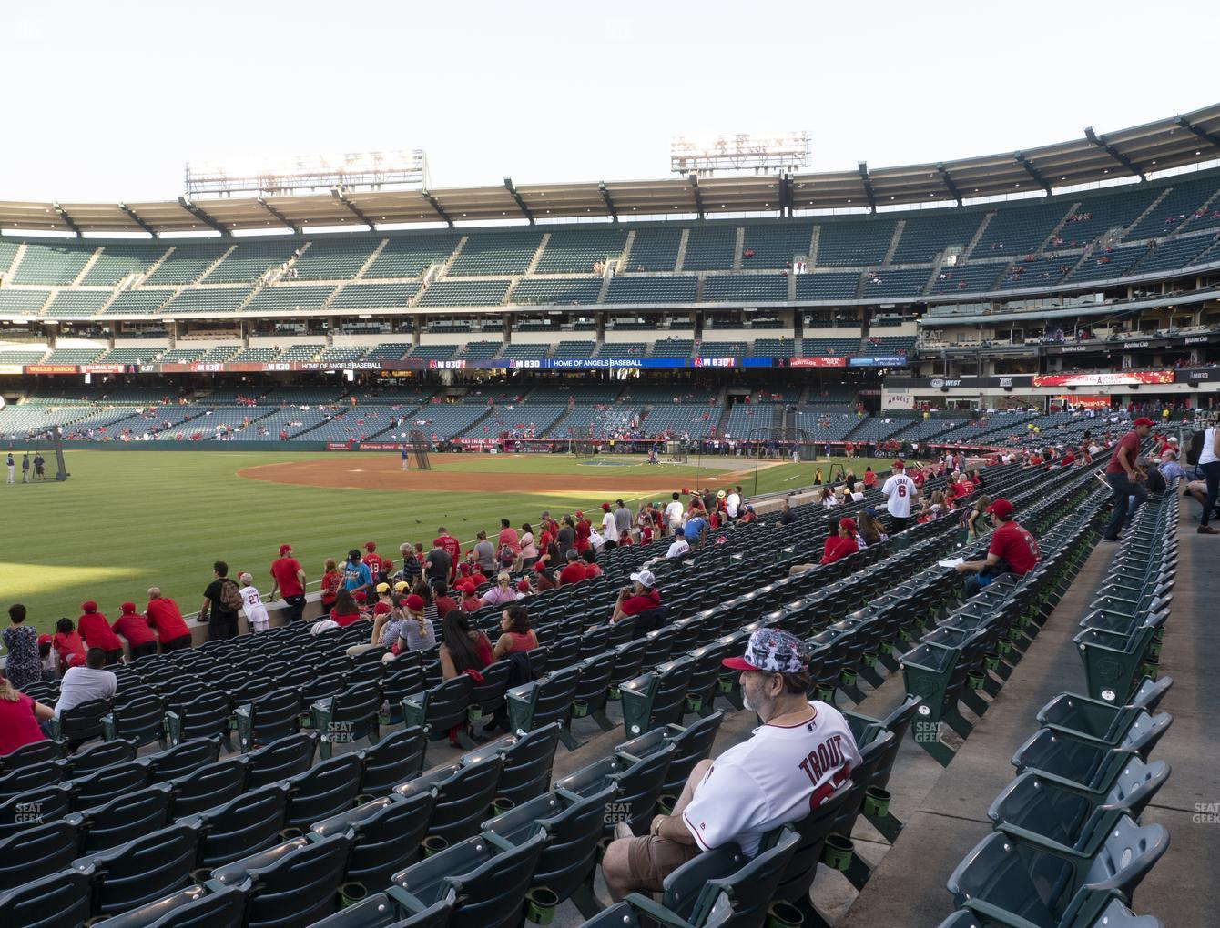 Los Angeles Angels at Angel Stadium of Anaheim Section 106 View