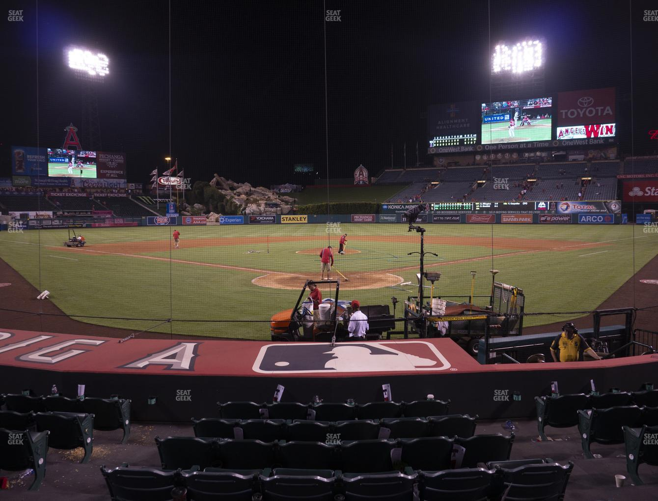 Los Angeles Angels at Angel Stadium of Anaheim Section 118 View