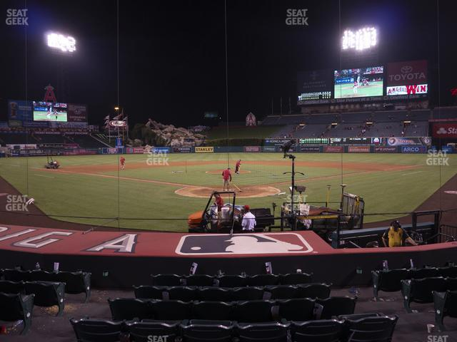 Angel Stadium of Anaheim Section 118 view