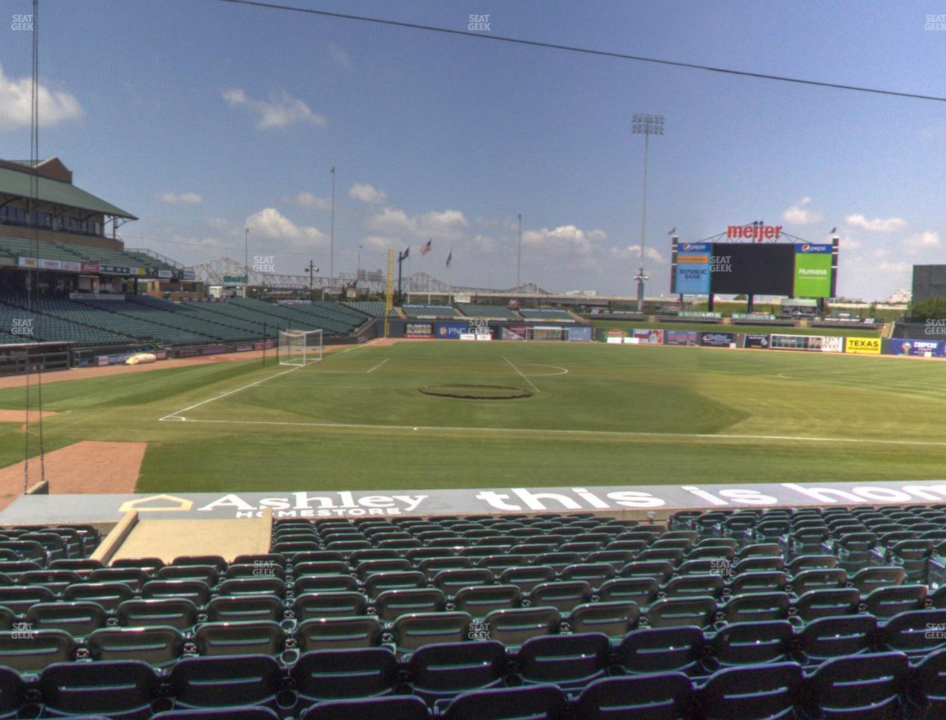 Louisville Slugger Field Section 111 Seat Views Seatgeek