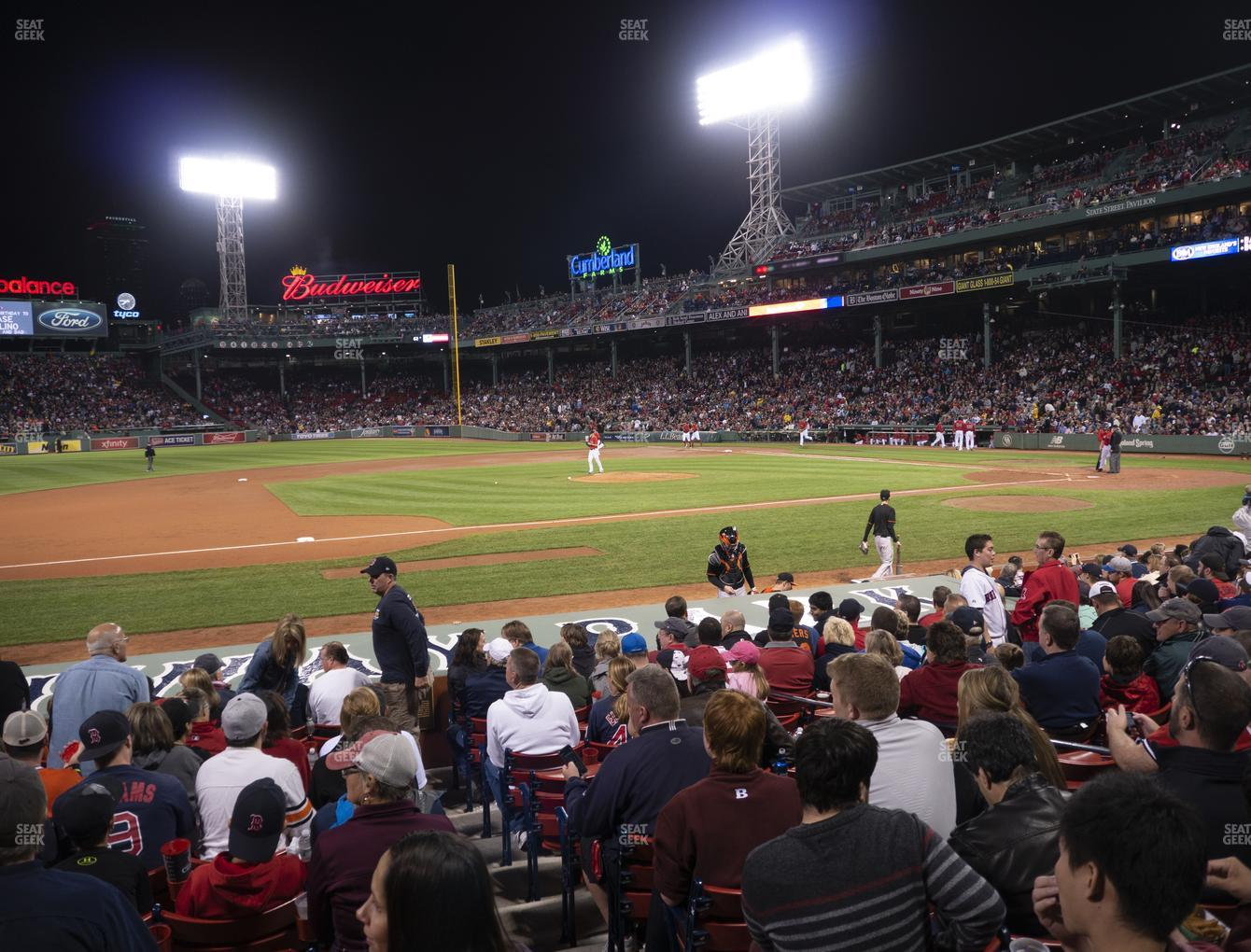 Boston Red Sox at Fenway Park Loge Box 146 View