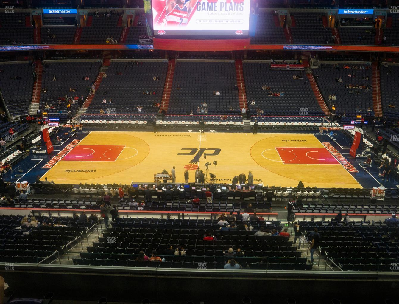 Washington Wizards at Capital One Arena Section 200 View