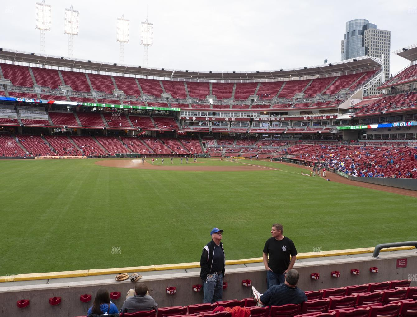 Cincinnati Reds at Great American Ball Park Section 103 View