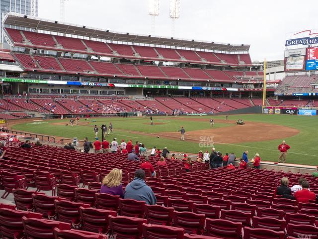 Great American Ball Park Section 133 view