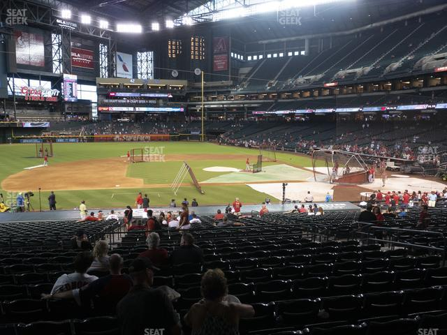 Chase Field Section 128 view
