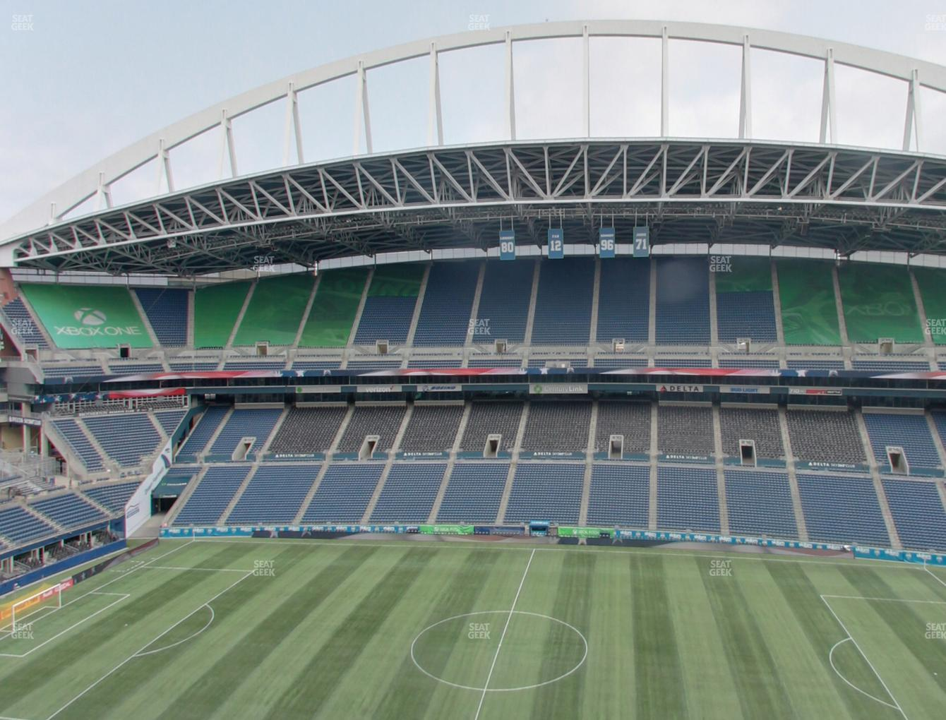 Seattle Sounders FC at CenturyLink Field Lower 334 View