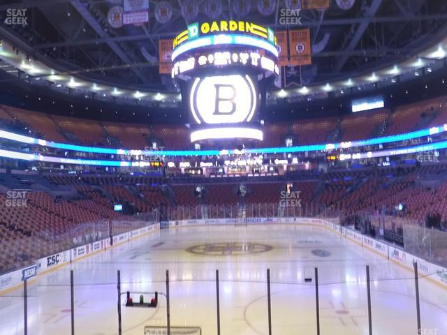 TD Garden Section Loge 6 view