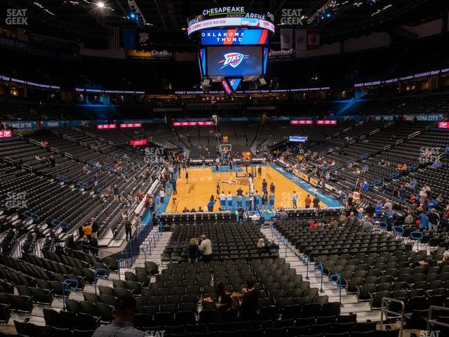 Chesapeake Energy Arena Lower Terrace 201 view